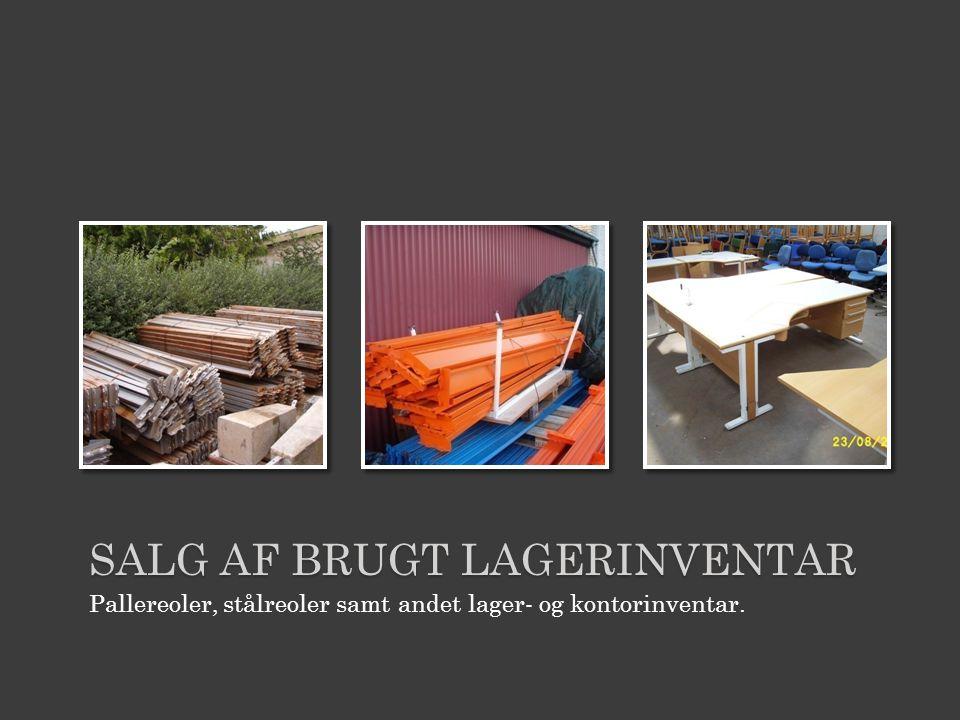 Salg af brugt lagerinventar