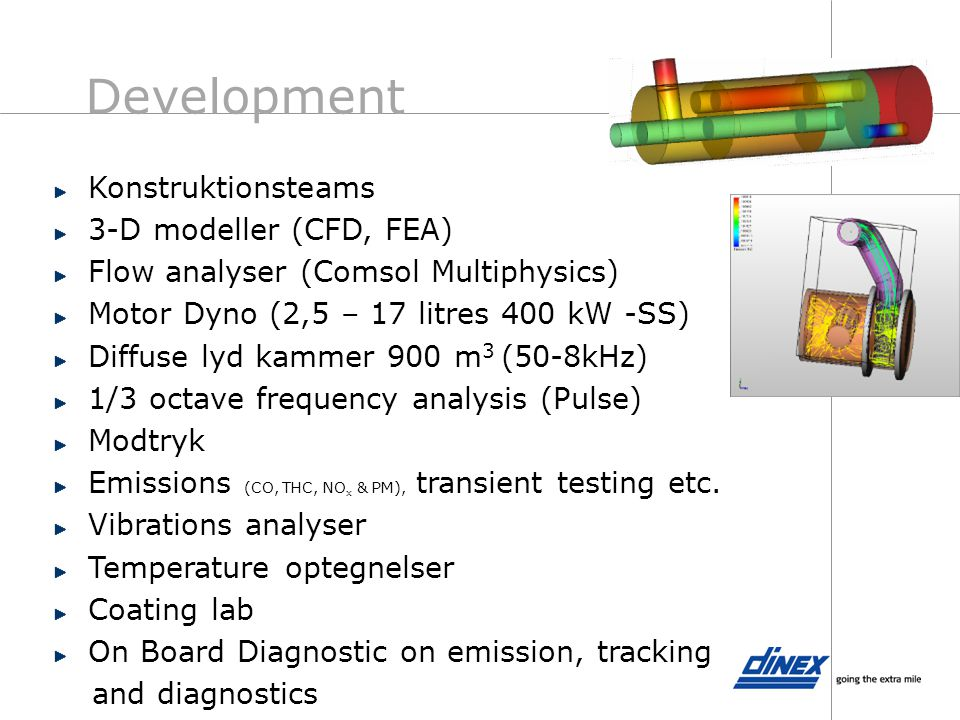 Development Konstruktionsteams 3-D modeller (CFD, FEA)