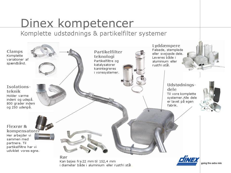 Dinex kompetencer Komplette udstødnings & partikelfilter systemer