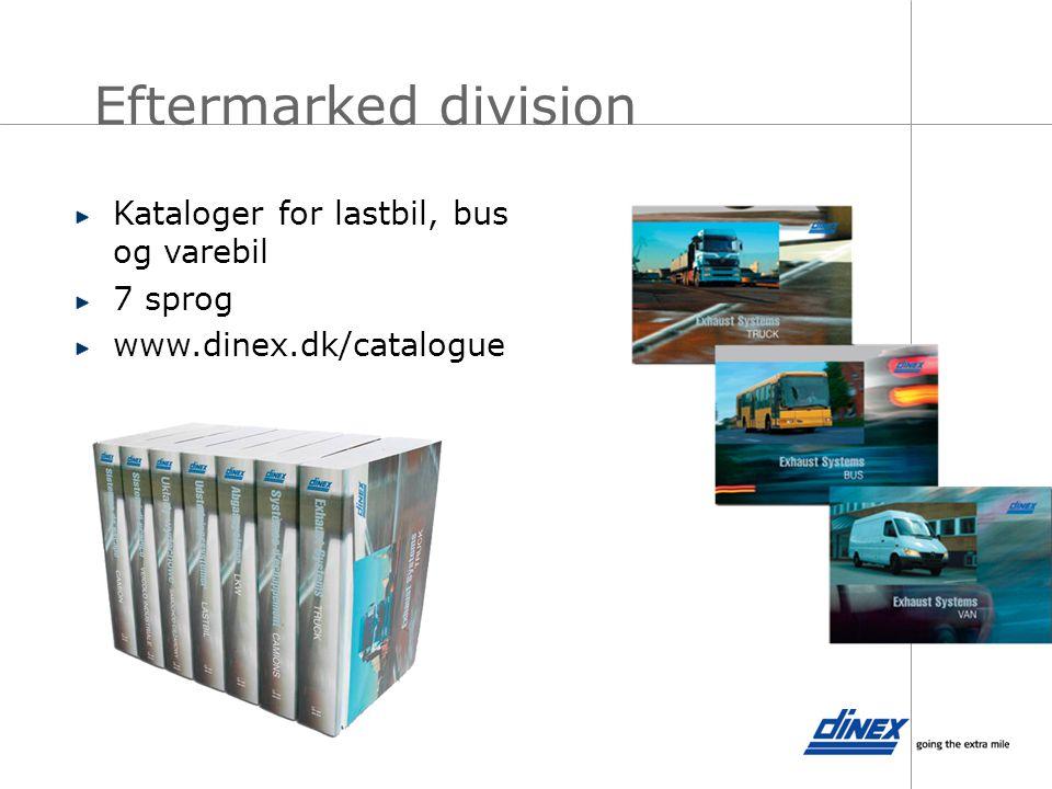 Eftermarked division Kataloger for lastbil, bus og varebil 7 sprog
