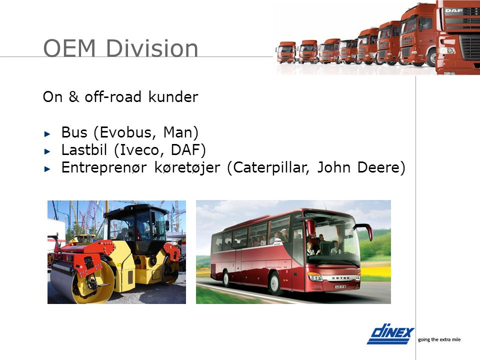 OEM Division On & off-road kunder Bus (Evobus, Man)