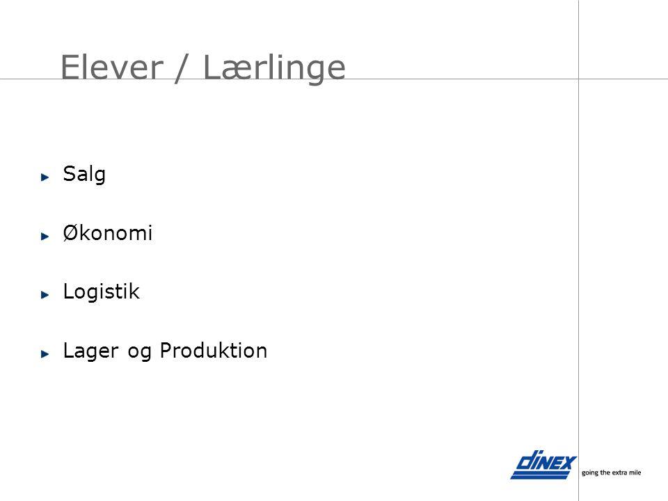Elever / Lærlinge Salg Økonomi Logistik Lager og Produktion