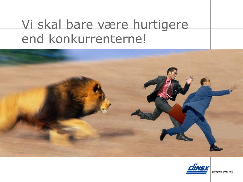 Vi skal bare være hurtigere end konkurrenterne!