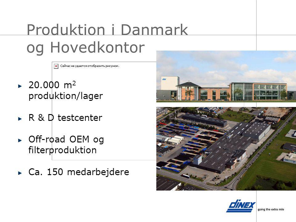Produktion i Danmark og Hovedkontor