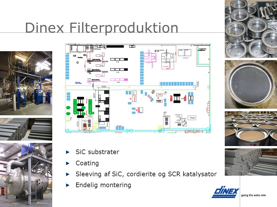 Dinex Filterproduktion