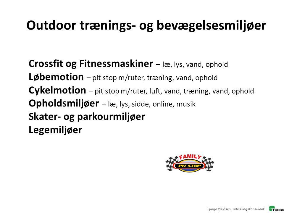 Outdoor trænings- og bevægelsesmiljøer