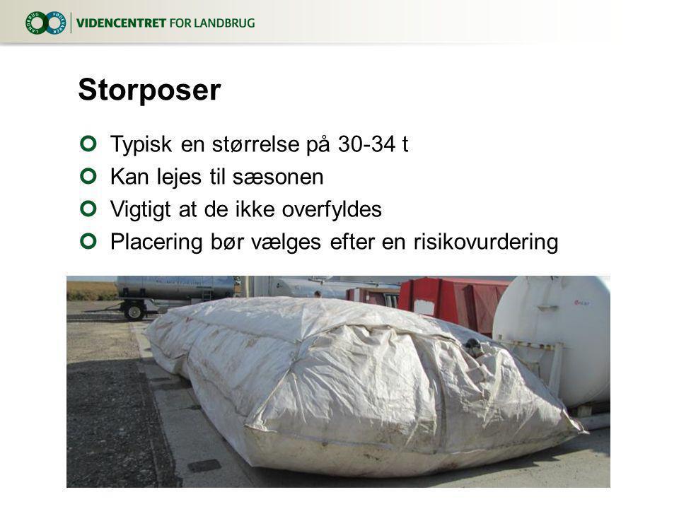 Storposer Typisk en størrelse på 30-34 t Kan lejes til sæsonen