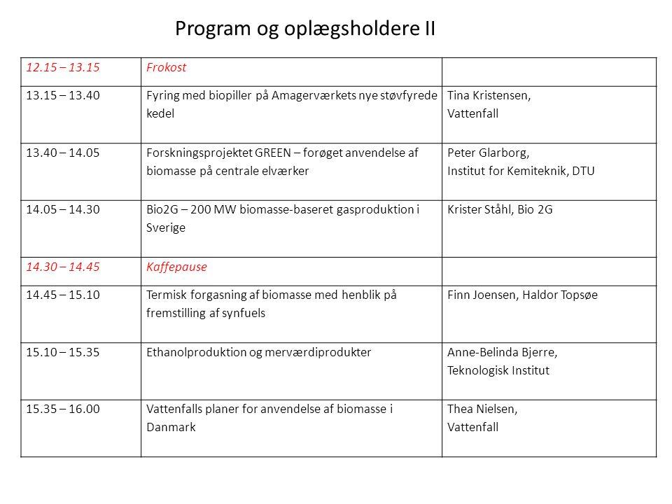 Program og oplægsholdere II
