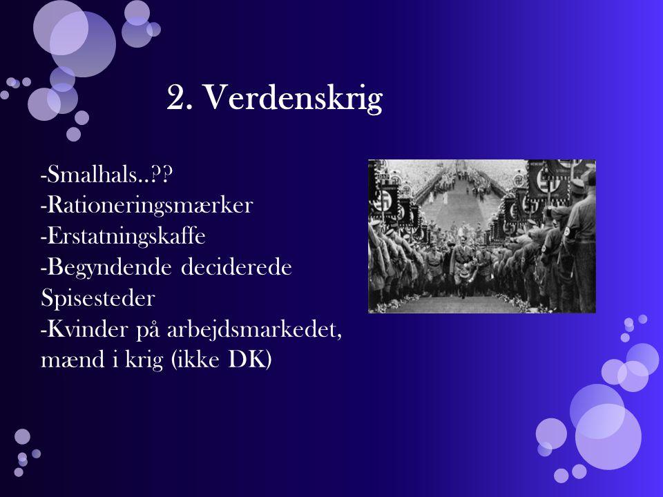 2. Verdenskrig Smalhals.. Rationeringsmærker Erstatningskaffe