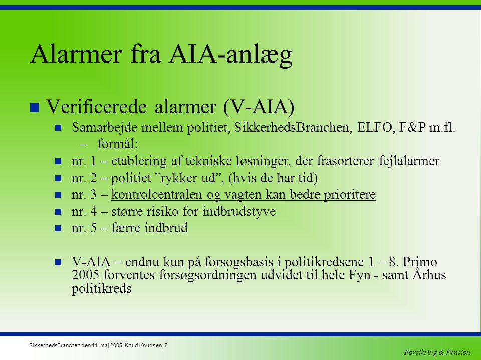 Alarmer fra AIA-anlæg Verificerede alarmer (V-AIA)