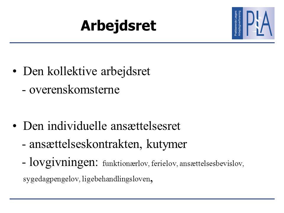 Arbejdsret Den kollektive arbejdsret - overenskomsterne
