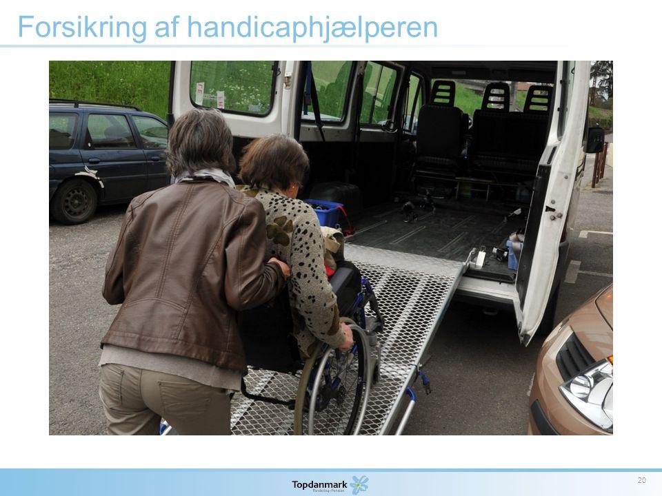 Forsikring af handicaphjælperen