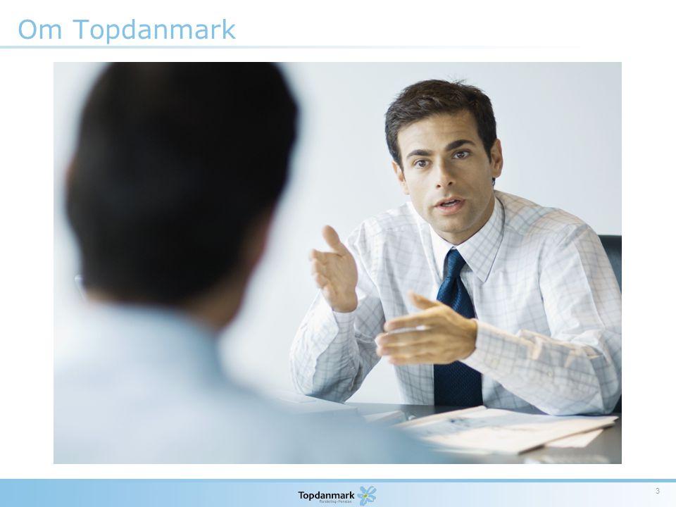 Om Topdanmark Standard en-spaltet punktopstilling.