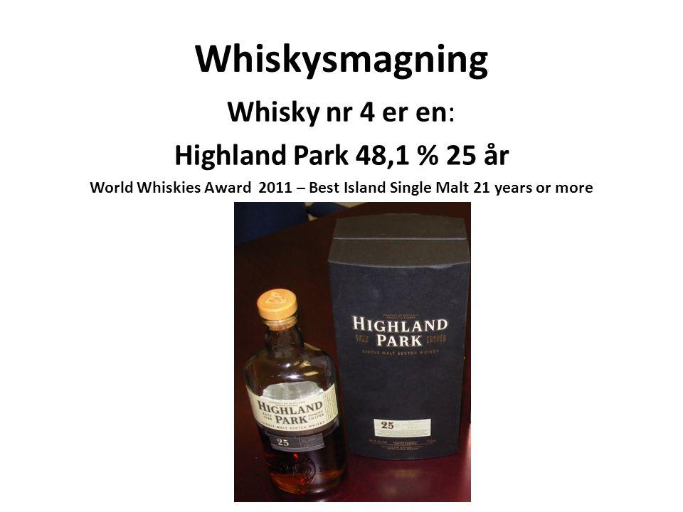 World Whiskies Award 2011 – Best Island Single Malt 21 years or more