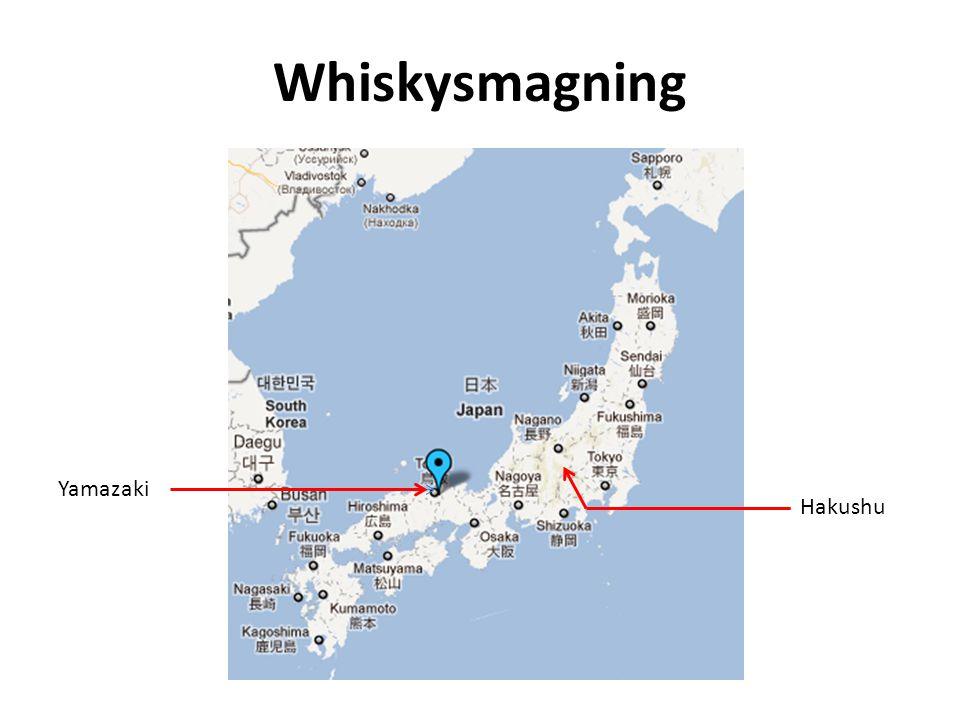 Whiskysmagning Yamazaki Hakushu