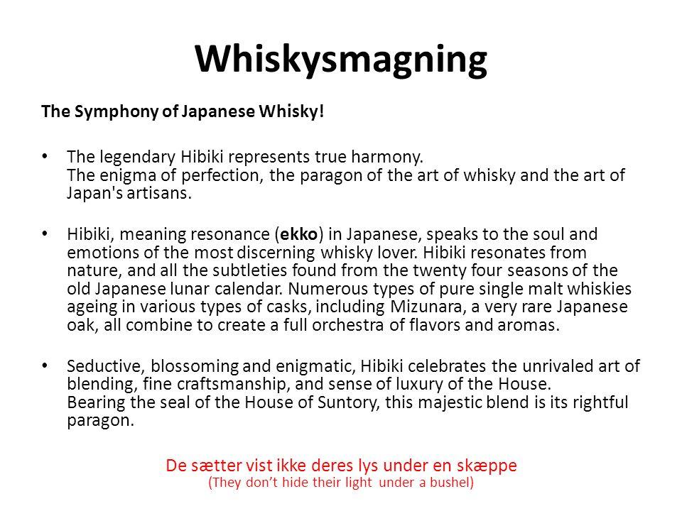 Whiskysmagning The Symphony of Japanese Whisky!