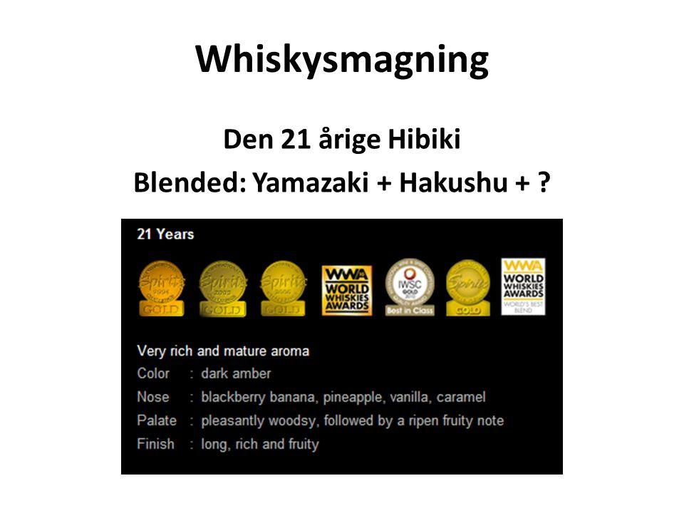 Den 21 årige Hibiki Blended: Yamazaki + Hakushu +
