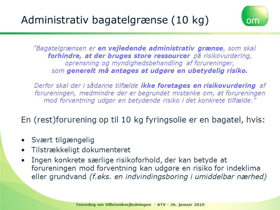 Administrativ bagatelgrænse (10 kg)