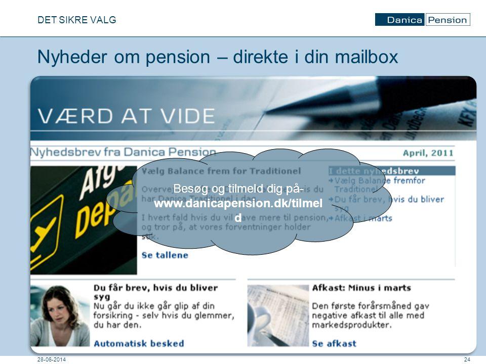 Nyheder om pension – direkte i din mailbox