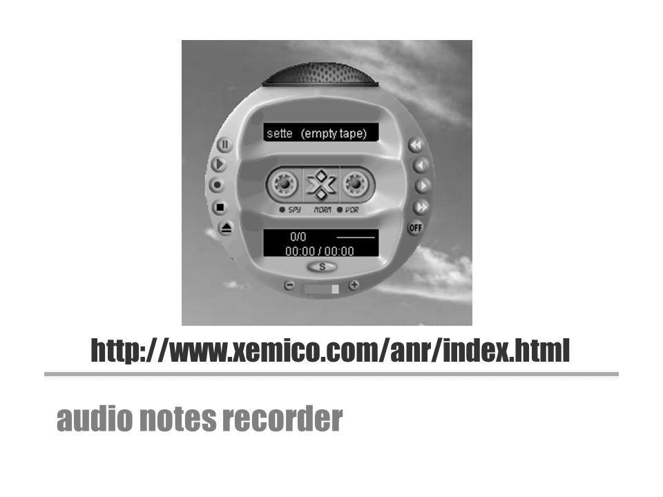 http://www.xemico.com/anr/index.html audio notes recorder