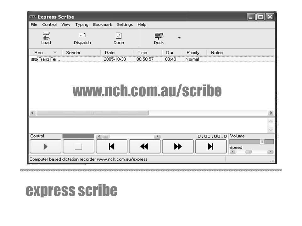 www.nch.com.au/scribe express scribe