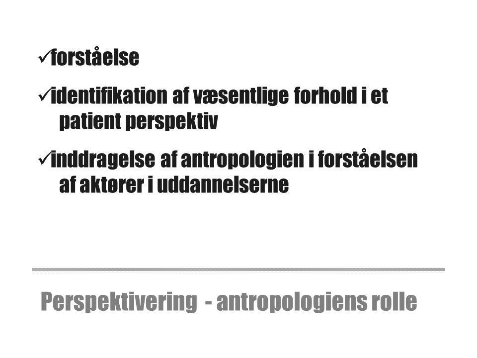 Perspektivering - antropologiens rolle