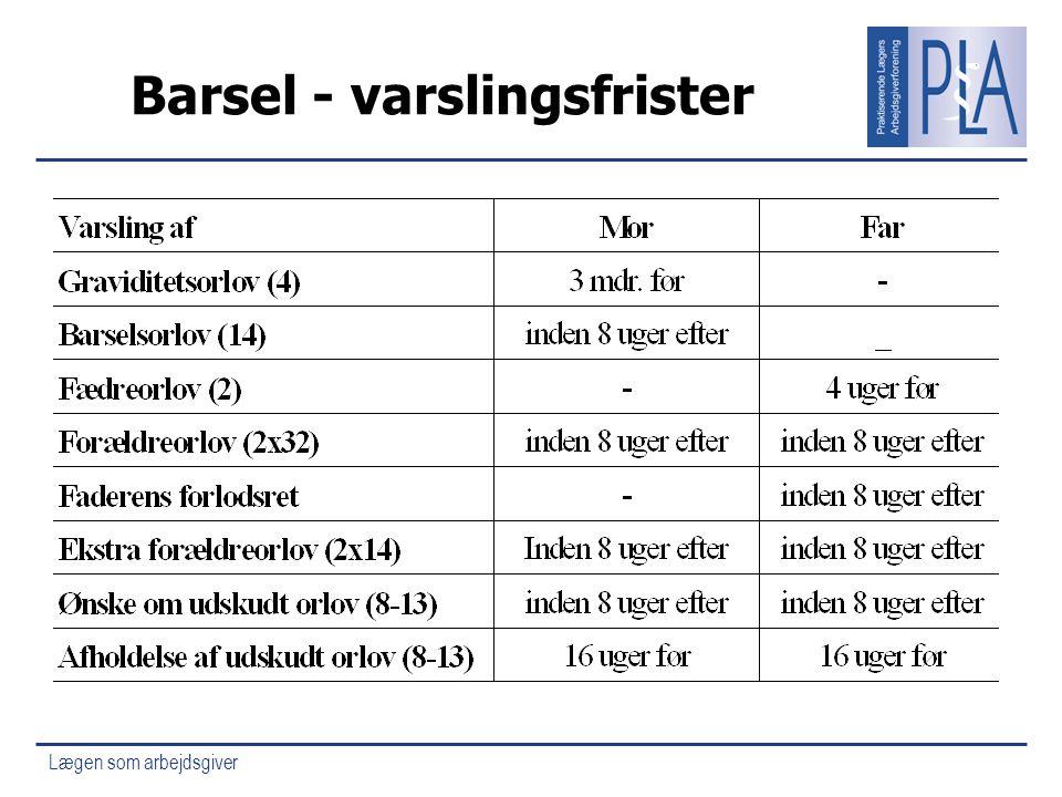 Barsel - varslingsfrister