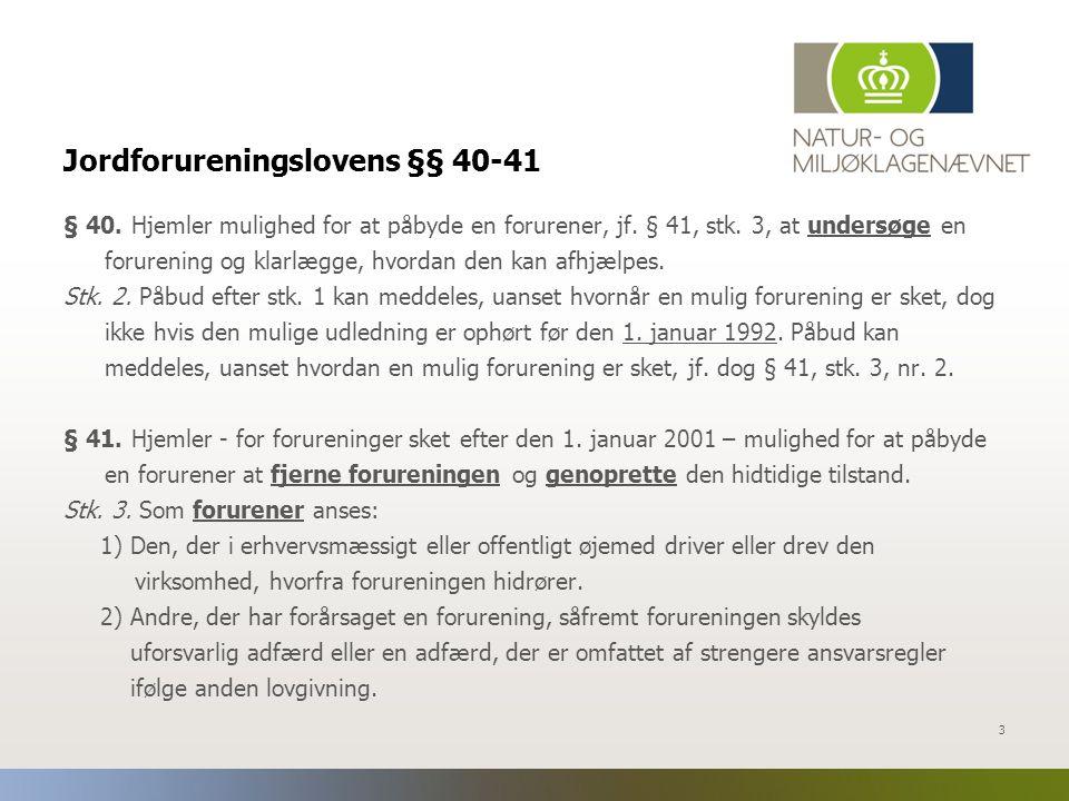 Jordforureningslovens §§ 40-41