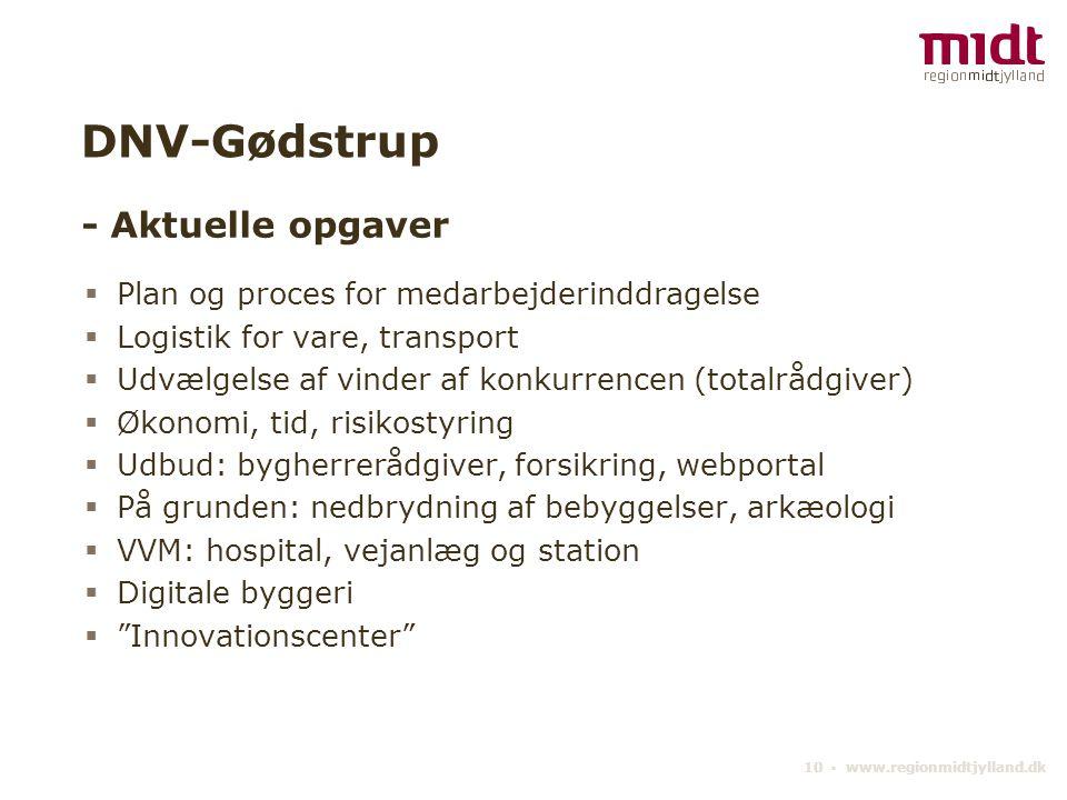 DNV-Gødstrup - Aktuelle opgaver