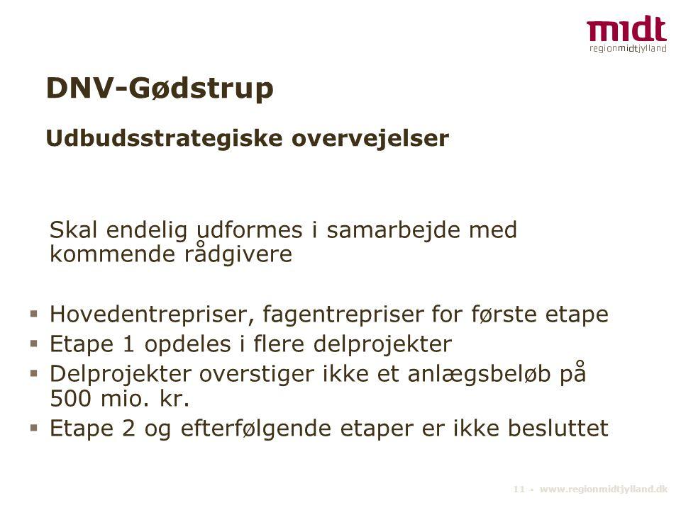 DNV-Gødstrup Udbudsstrategiske overvejelser