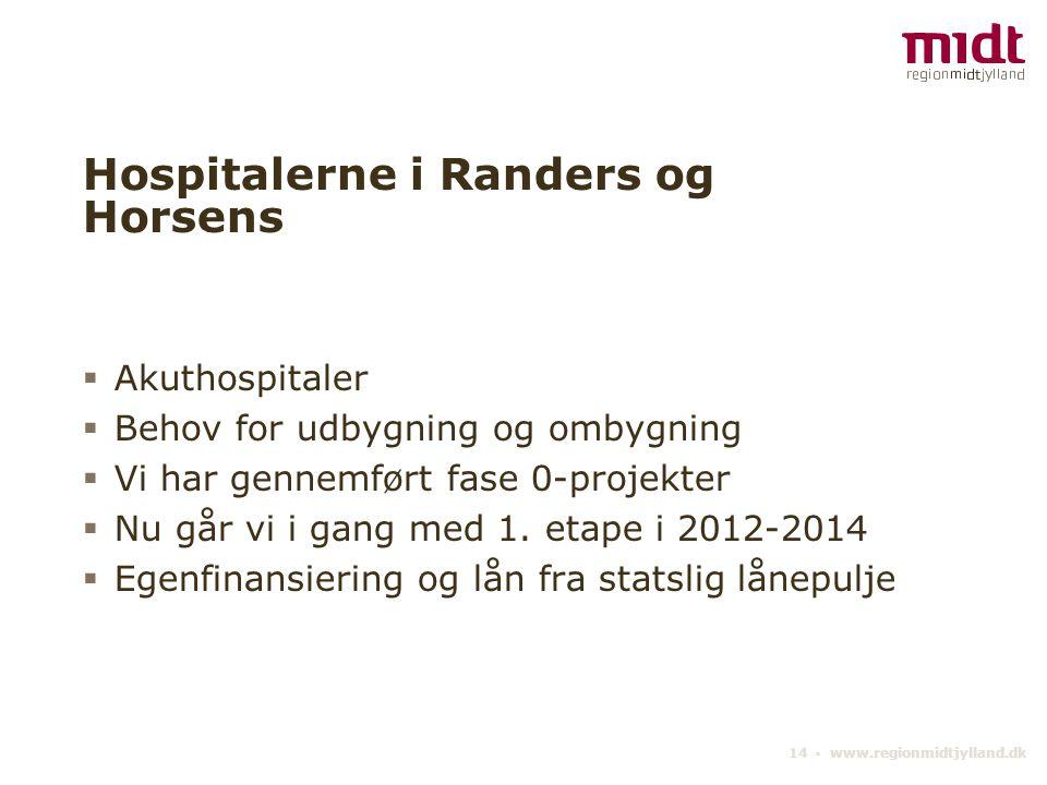 Hospitalerne i Randers og Horsens