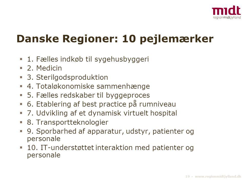 Danske Regioner: 10 pejlemærker