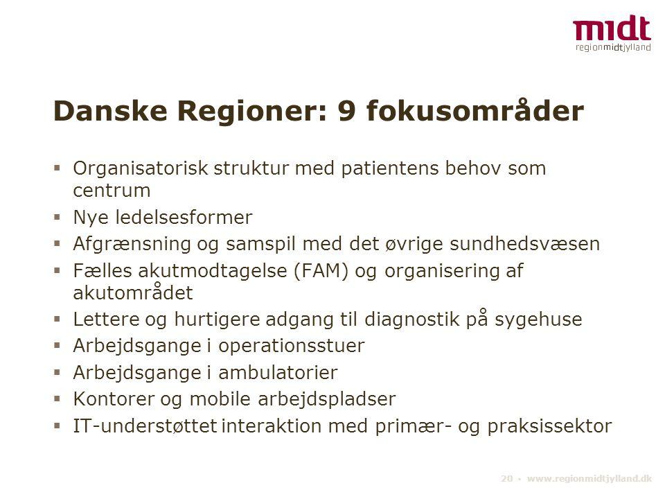 Danske Regioner: 9 fokusområder