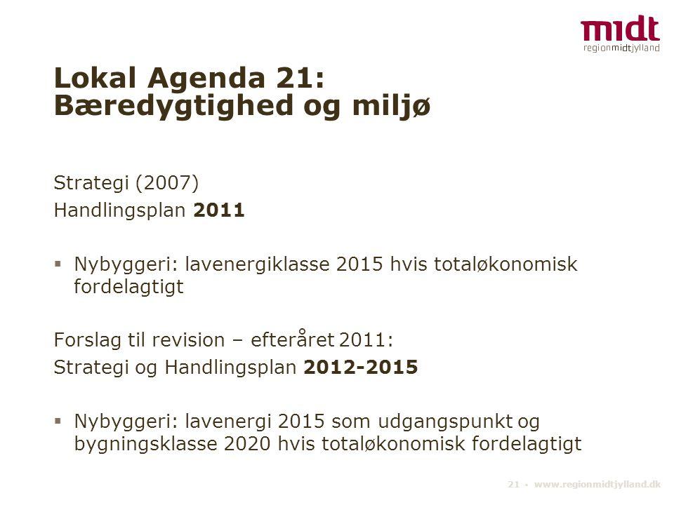 Lokal Agenda 21: Bæredygtighed og miljø