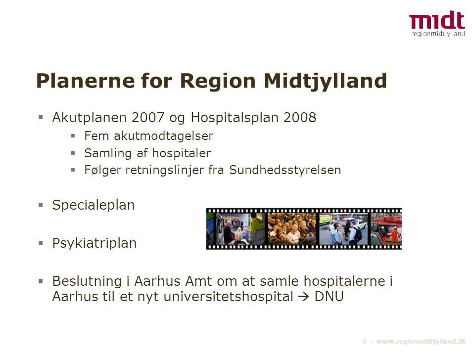 Planerne for Region Midtjylland