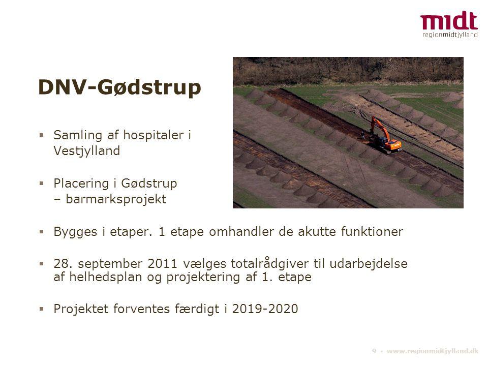 DNV-Gødstrup Samling af hospitaler i Vestjylland Placering i Gødstrup