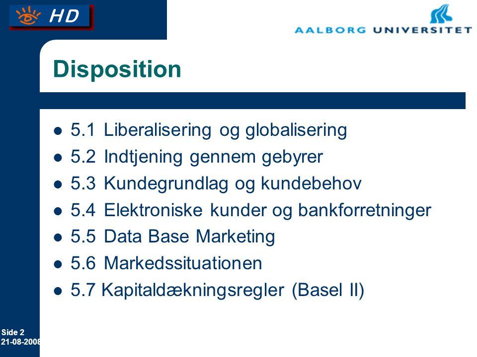 Disposition 5.1 Liberalisering og globalisering