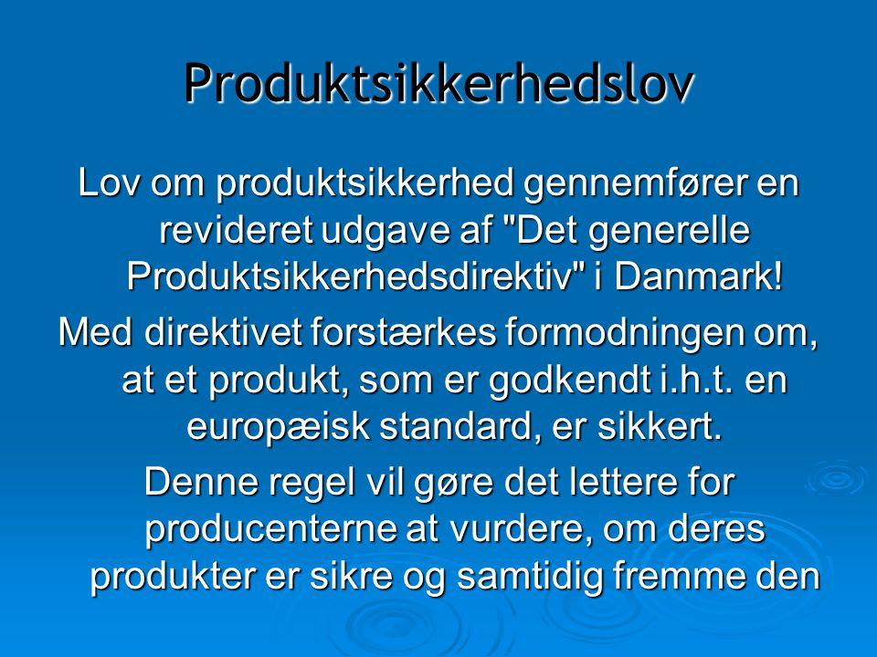 Produktsikkerhedslov