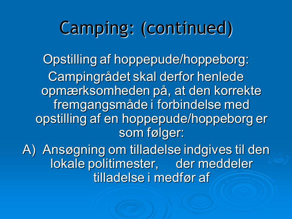 Opstilling af hoppepude/hoppeborg: