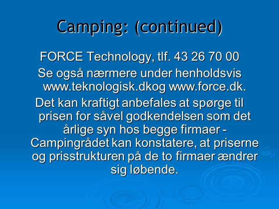 Se også nærmere under henholdsvis www.teknologisk.dkog www.force.dk.