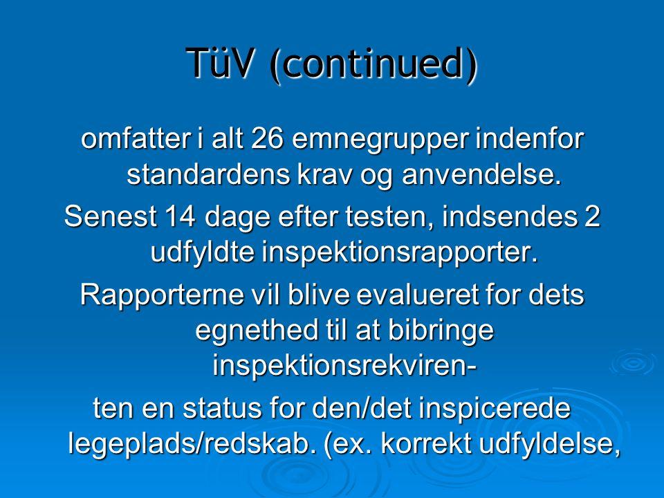 omfatter i alt 26 emnegrupper indenfor standardens krav og anvendelse.