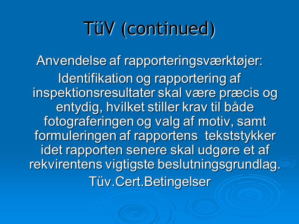 Anvendelse af rapporteringsværktøjer: