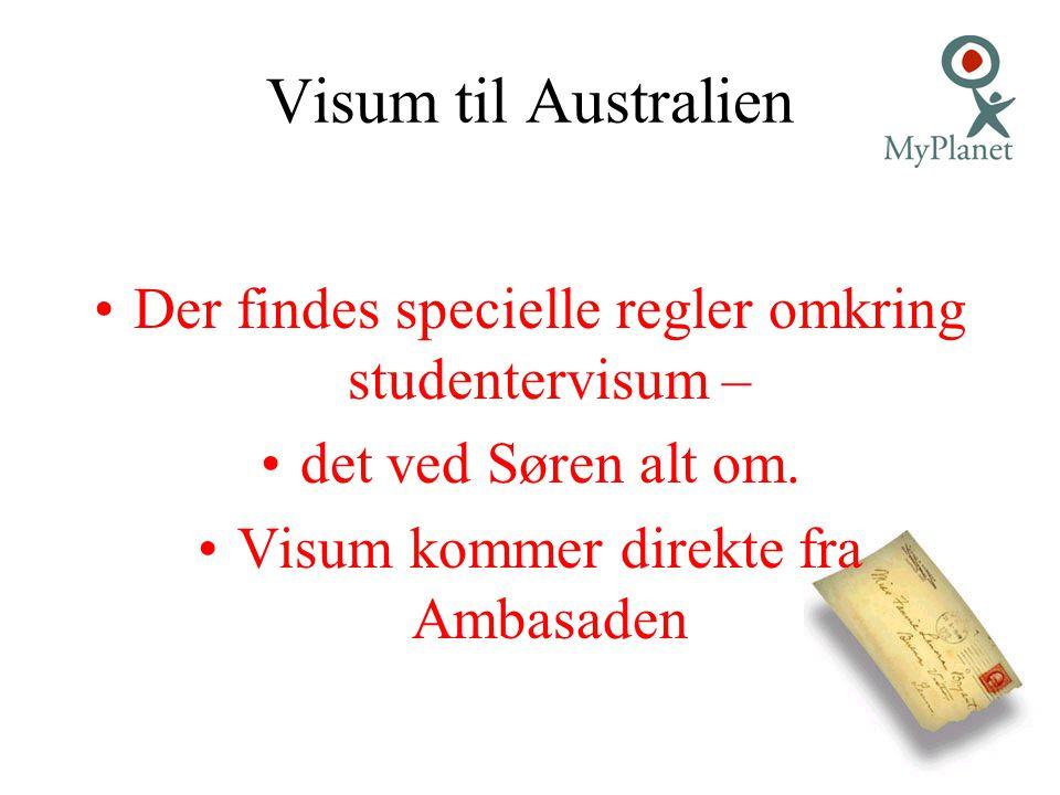 Visum til Australien Der findes specielle regler omkring studentervisum – det ved Søren alt om.