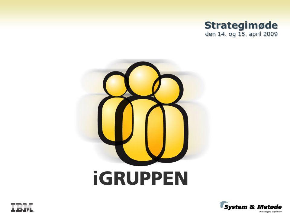 Strategimøde den 14. og 15. april 2009