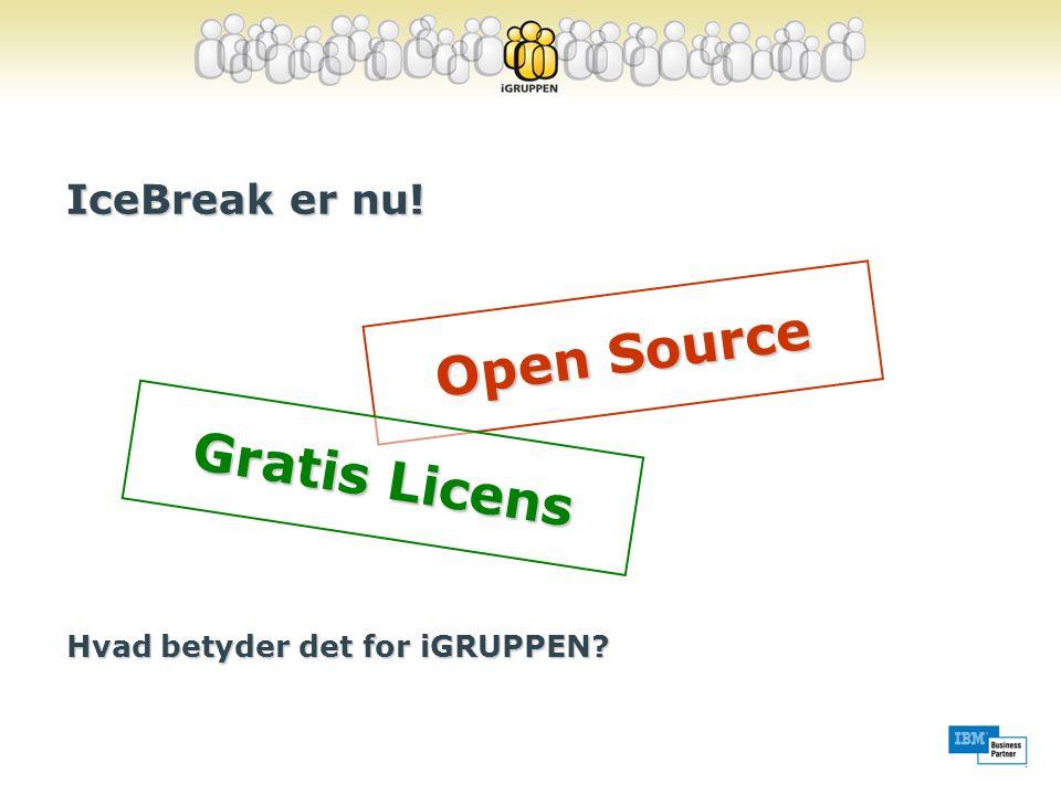 Open Source Gratis Licens