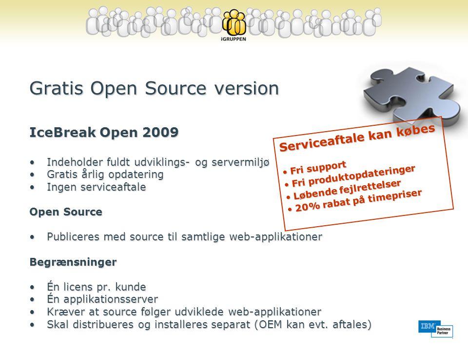 Gratis Open Source version