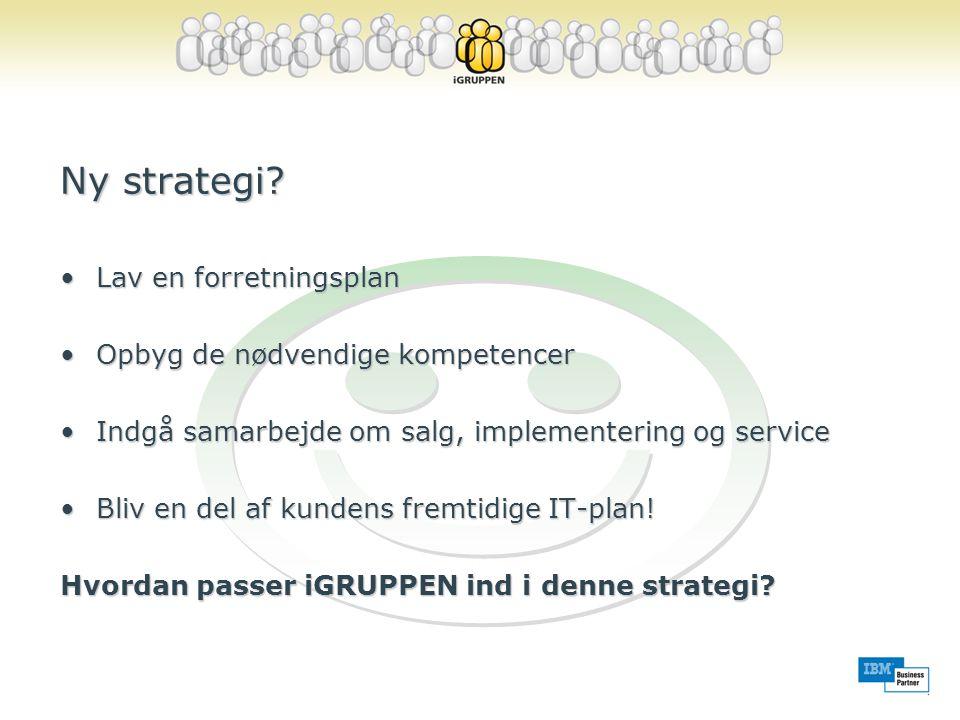J Ny strategi Lav en forretningsplan Opbyg de nødvendige kompetencer