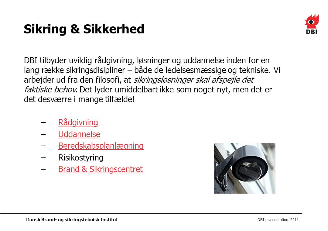 Sikring & Sikkerhed