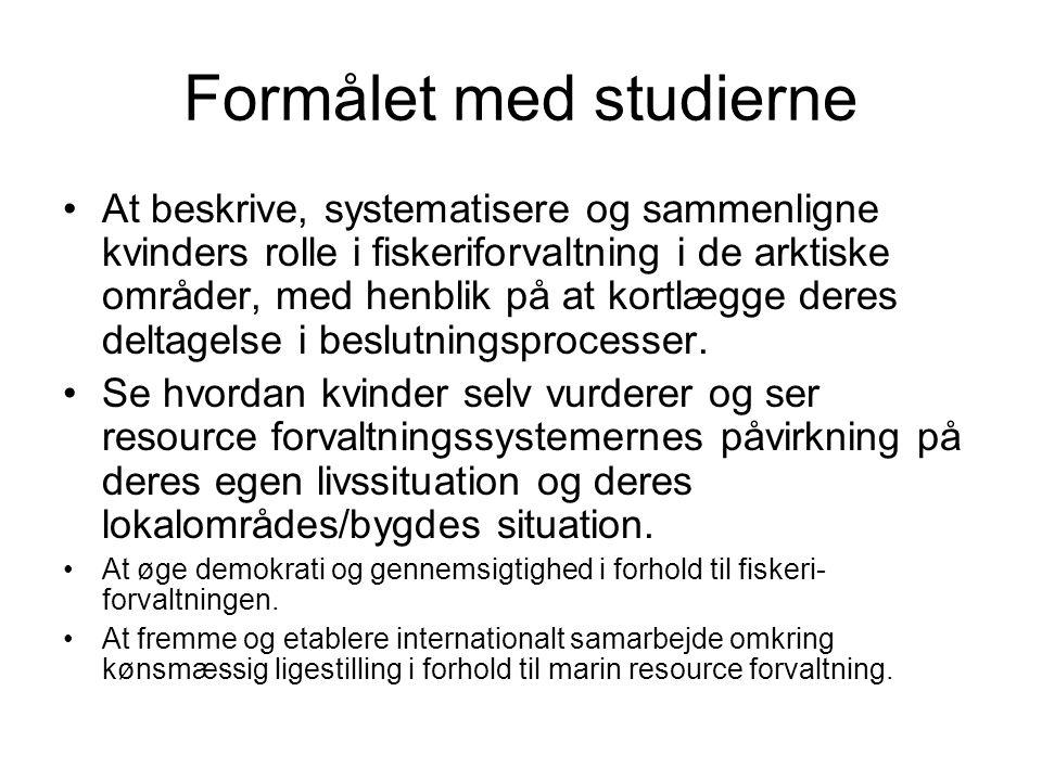 Formålet med studierne