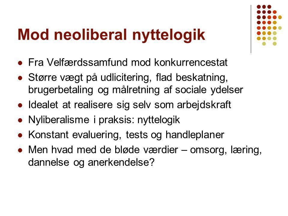 Mod neoliberal nyttelogik